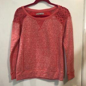 Cato Crochet Shoulder Sweatshirt